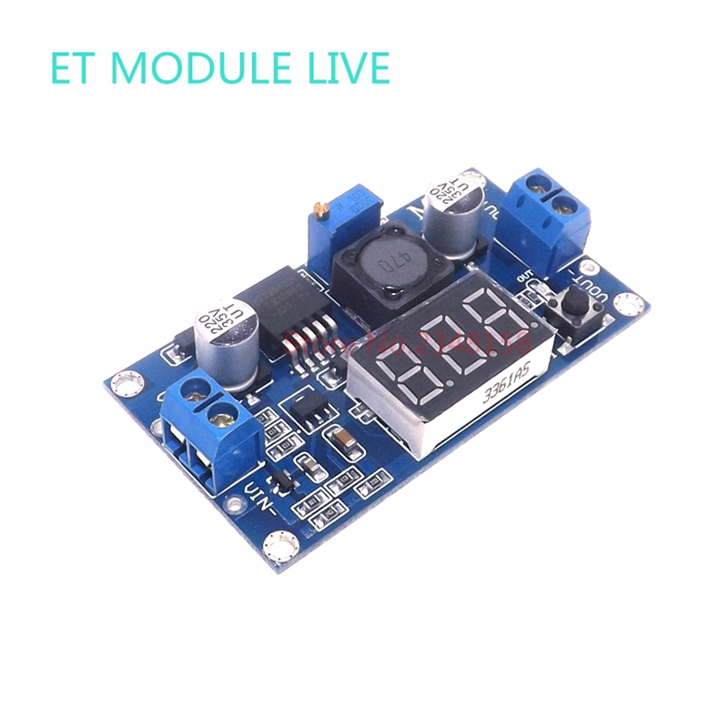 LM2596 DC DC Step Down Converter Voltage Regulator LED Display Voltmeter 4.0~40 to 1.3-37V Buck Adapter Adjustable Power Supply diy kit dc dc adjustable step down regulated power supply module belt voltmeter ammeter dual display