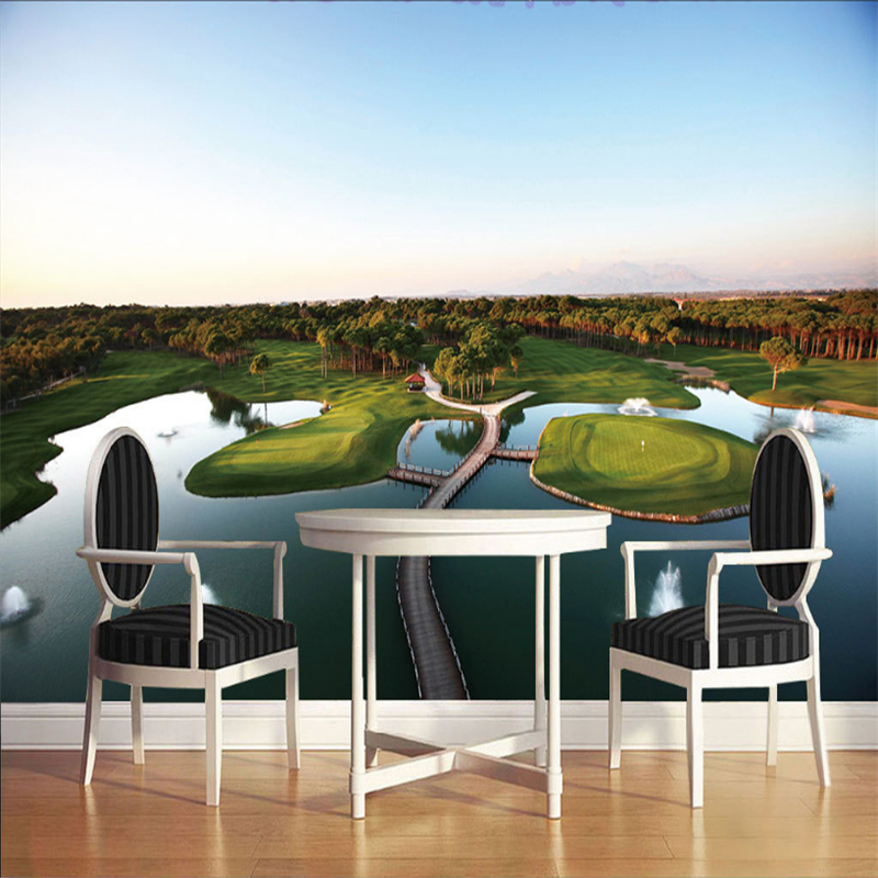 Customized 3D Wall Murals Island Lake Golf View Non-Woven Wallpaper Roll For Walls Living Room Desktop Home Decor Mural Wall 10pcs free shipping sst39vf080 70 4c eie