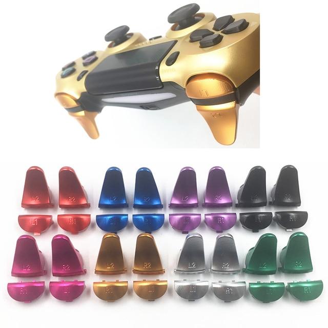PS4 V1 金属アルミ L1 R1 L2 R2 エクステンダー拡張トリガーボタン交換ソニーのプレイステーション 4 コントローラゲームパッド合金