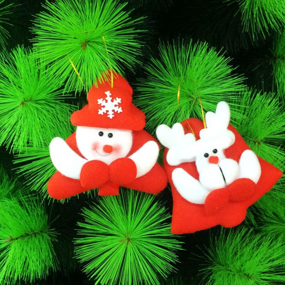 ee19f531538b4 120 Pçs lote Bonitinho Papai Noel Boneco Urso Pingente veados decorações da  árvore de natal ornamento de suspensão para o NATAL em casa partido