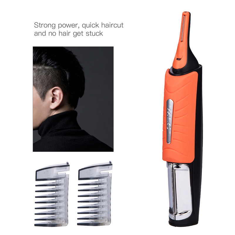 Micro Precision LED Hair Clipper Ear Nose Eyebrow Hair Trimmer Shaver Men From Micro to Full Body Grooming Machine with 4 Combs 1