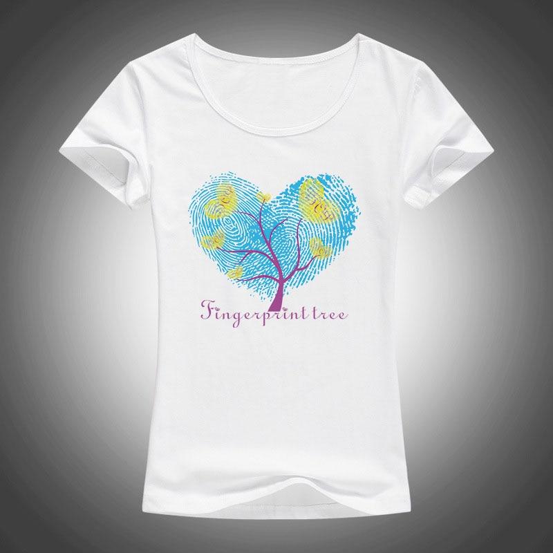 Zomer Mode mooie vingerafdrukken afgedrukt Dames T-shirt Nieuwe stijl - Dameskleding
