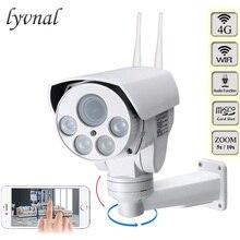 4G 3G kamera na kartę SIM Wifi zewnętrzna kamera PTZ HD 1080P kamera typu Bullet bezprzewodowa IR 50M 5X 10X Zoom automatyczne ustawianie ostrości CCTV Wifi kamera IP Audio