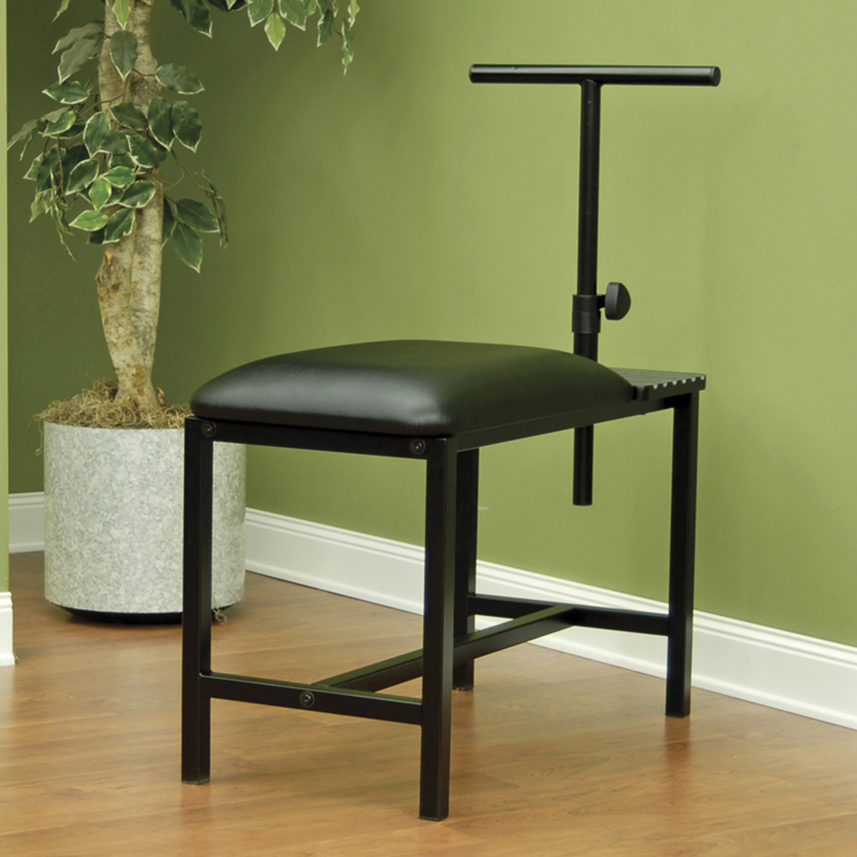Offex Home Office Studio Bench - Black offex home office plinth ottoman dark taupe