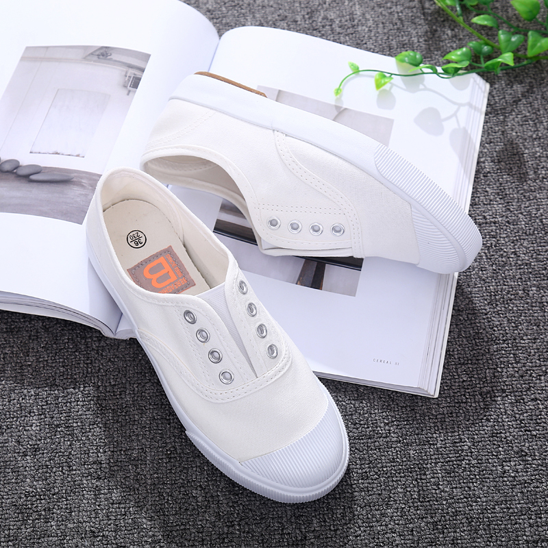 2018 Brand Summer Woman Casual Shoes Shallow Mouth Causal Flats Slip On Women Canvas Shoes Female White shoes 7h13 2015 summer shallow mouth of canvas shoes women shoes a pedal lazy shoes casual flat white shoes korean wave shoes
