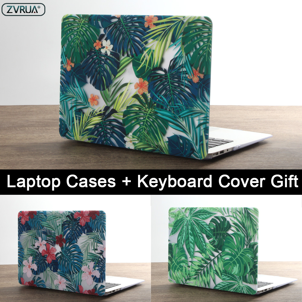 New Print Palm Leaves Laptop Case For MacBook Air Pro Retina 11 12 13 15 Inch With Touch Bar + Keyboard Cover