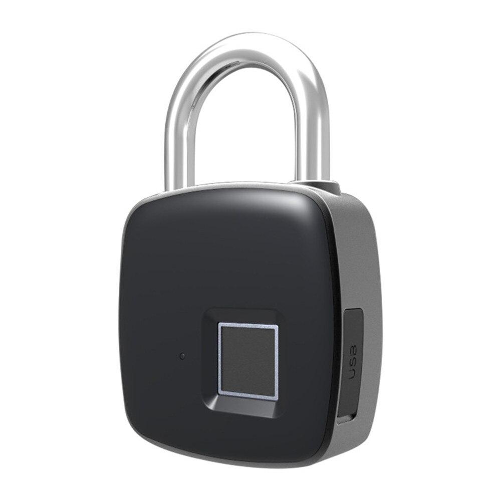 Small smart fingerprint security electronic backpack luggage cabinet door lock padlock free shipping security smart portable fingerprint padlock luggage lock bag drawer lock