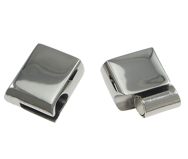 Stainless Steel magnetic magnetite Claspchristmas Rectangle oril color 25x13.50x8mm Hole:Approx 11.5x6mm 10PCs/Lot