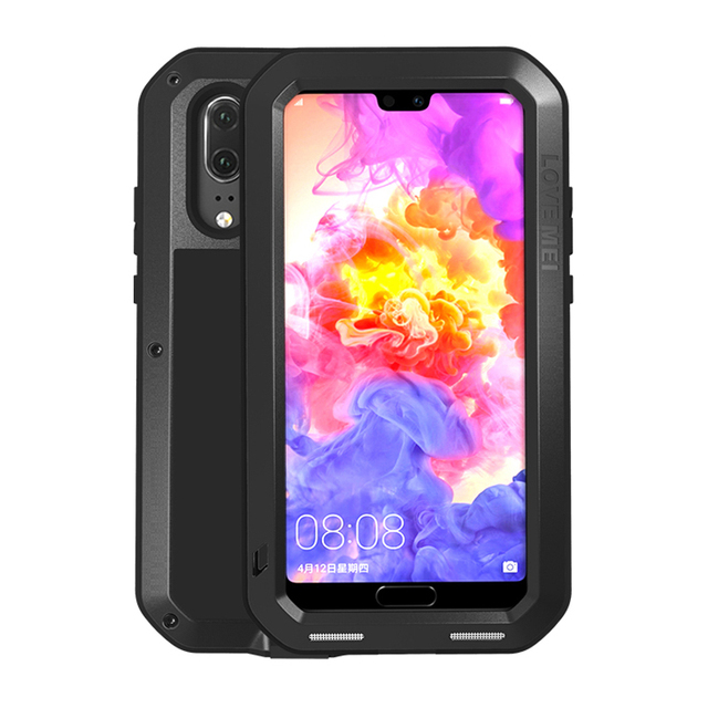 Alüminyum Metal Kasa Huawei P30 Pro P20 Lite Darbeye 360 Tam Vücut Koruyucu  gorilla cam Kapak P 30
