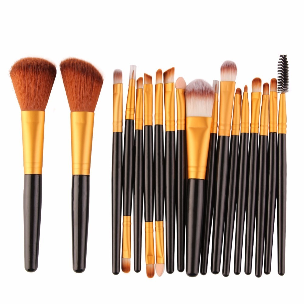 Brushes For Makeup Brushes Tool 18/15Pcs Set Cosmetic Power Eye Shadow Foundation Blush Blending Beauty Make Up Brush Maquiagem 8pcs rose gold makeup brushes eye shadow powder blush foundation brush 2pc sponge puff make up brushes pincel maquiagem cosmetic