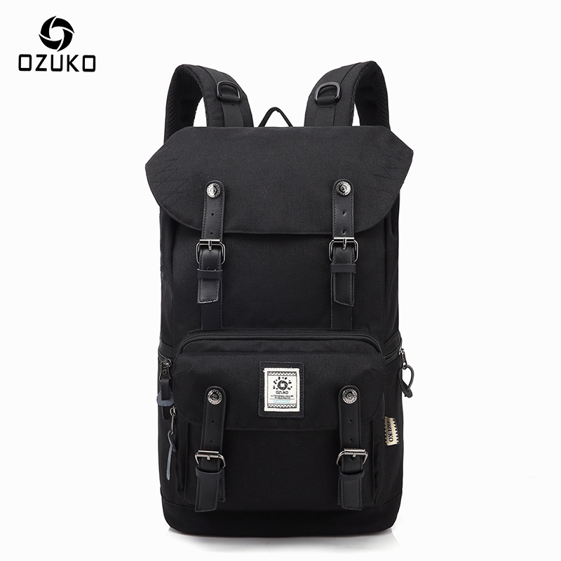 OZUKO 2018 Casual Men's Backpack Waterproof Oxford Drawstring Bag Laptop Computer Bag Fashion Student School Bag Travel Backpack