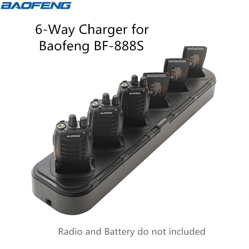 Baofeng Six 6-Way Universal Rapid Multi Charger BF-888S U1 Chargers For BaoFeng BF-888S BF-777S BF-666S H-777 Walkie Talkie