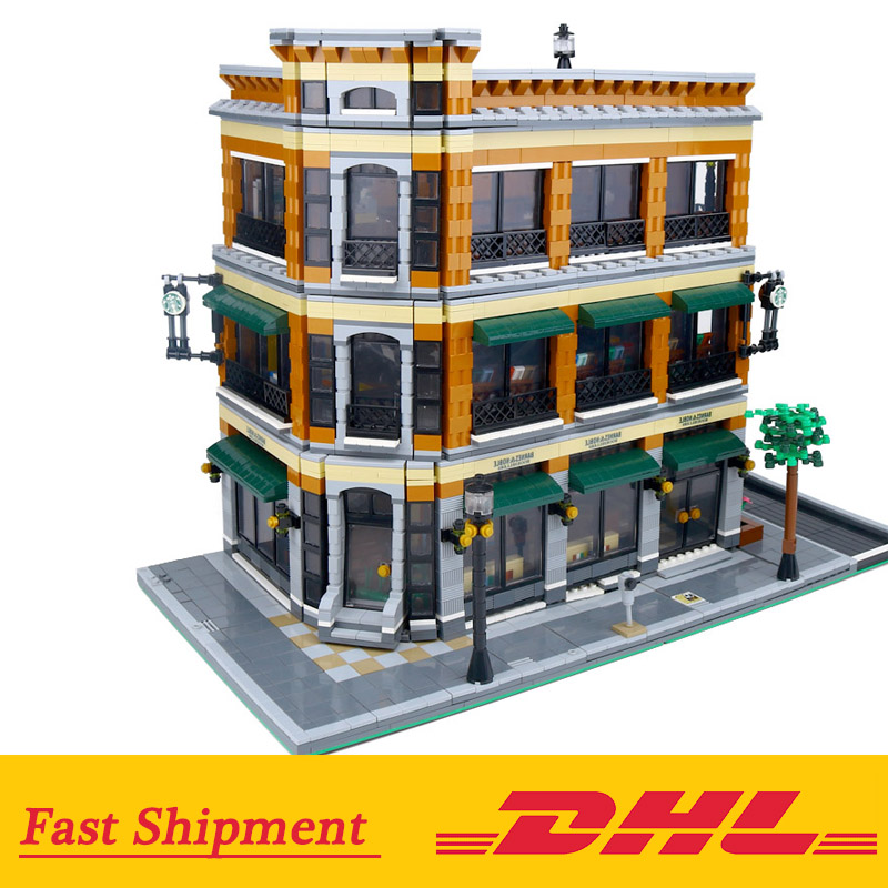 DHL 15017 Compatible Legoing Expert City Street View The  Cafe Bookstore Sets Building Kits Blocks Bricks Toys GiftsDHL 15017 Compatible Legoing Expert City Street View The  Cafe Bookstore Sets Building Kits Blocks Bricks Toys Gifts