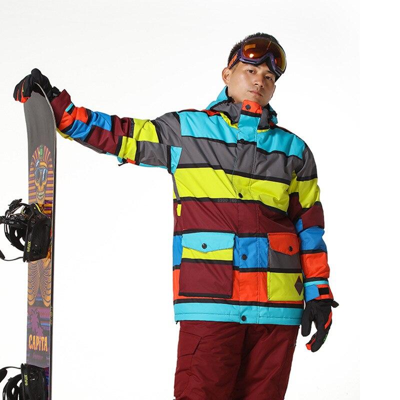 Prix pour Coloré Ski Veste Hommes D'hiver de Neige Porter Des Vêtements Chaud Snowboard Veste Gsou Neige Chine Boutique En Ligne