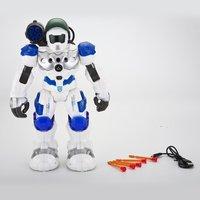 Kids Intelligent RC Robot Toys Programmable Combat Defender Dancing Walking Light Musical Remote Control Robots Toys Child Gift
