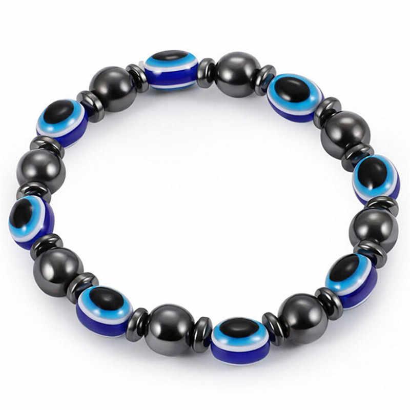 Многоцветный Регулируемый вес потери круглый черный камень браслет для магнитотерапии здоровья роскошный продукт для похудения