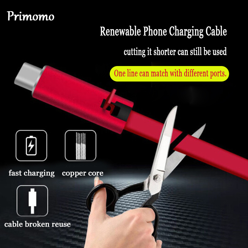 Renewable Phone Charging Cable for iPhone Cutting Quickly Repair Charging Line for Android