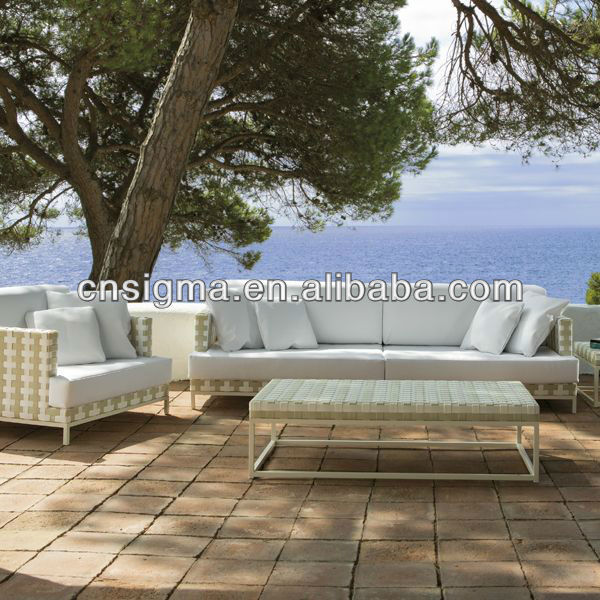 2017 Top Sale Weather White Wicker Patio Sofa Set In