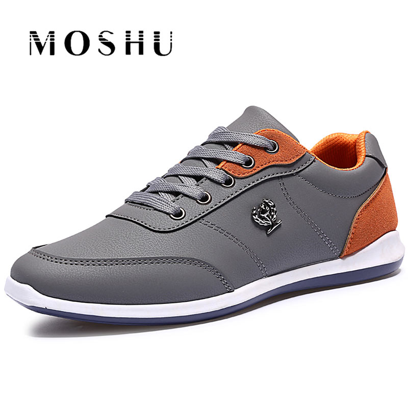 Fashion Spring Men Flats lightweight Casual Shoes Men British Style Breathable Lace Up Shoes Zapatillas Hombre tangnest men pu leather shoes 2017 british style men lace up casual shoes solid platform flats for male comfort shoes xmr2422