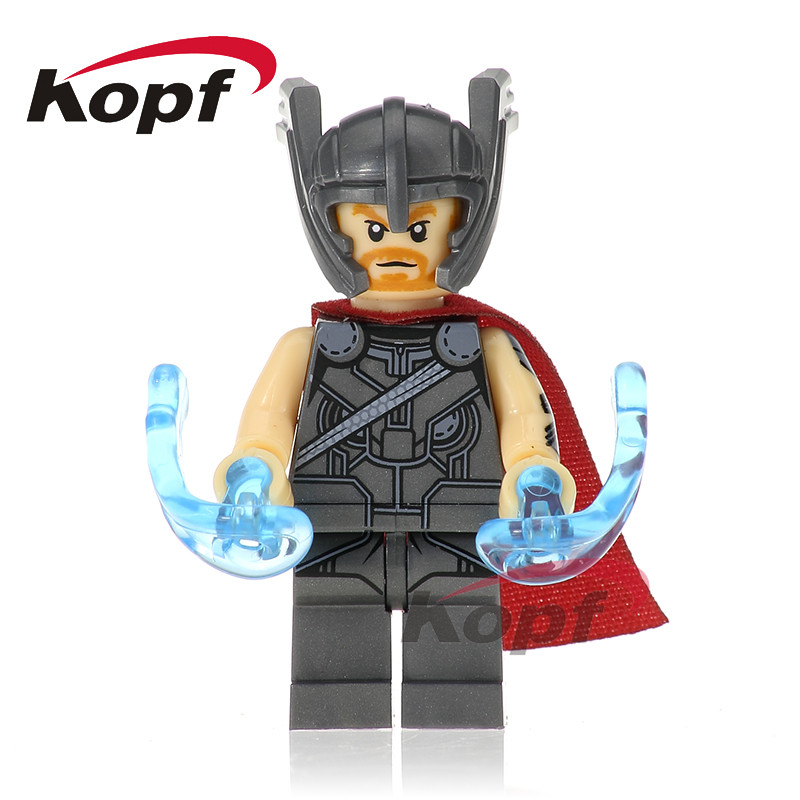 Single Sale Super Heroes Thor Hela Berserker Red Skull Loki Two Face Bricks Buildng Blocks Education Toys for children XH 703 single sale super heroes red skull mandarin thor grandmaster valkyrja bricks action building blocks children gift toys xh 709
