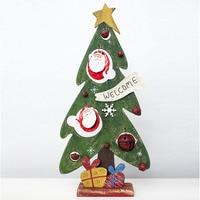 2018 новые творческие рождественские украшения деревянные Винтаж рождественские украшения росписью новогодняя елка полые колокольчики