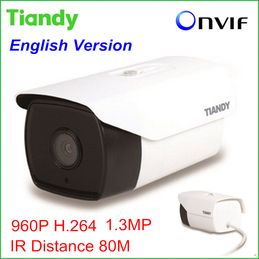 2016 New Tiandy IP Camera TC-NC9400S3E-MP-I8 960P 1.3MP Outdoor CCTV Camera CCTV System Support Onvif and English Version