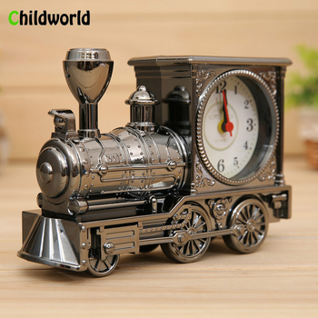 Antique Train Alarm Clock Fashion Home Decoration