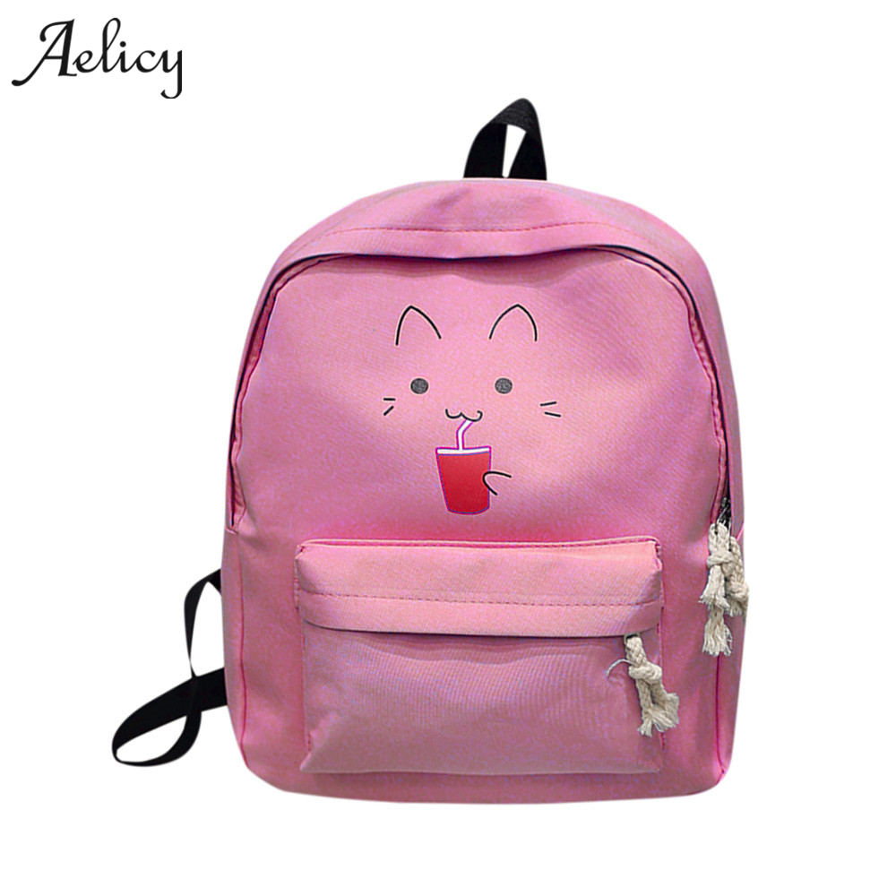Aelicy Canvas Backpack Students School Bag For Teenage Boys Backpacks Bags Cartoon Printing women bags designer high quality