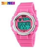 SKMEI Children LED Digital Watch 50M Waterproof Kids Sports Watches Multifunction Electronic Boys Girls Students Wristwatches