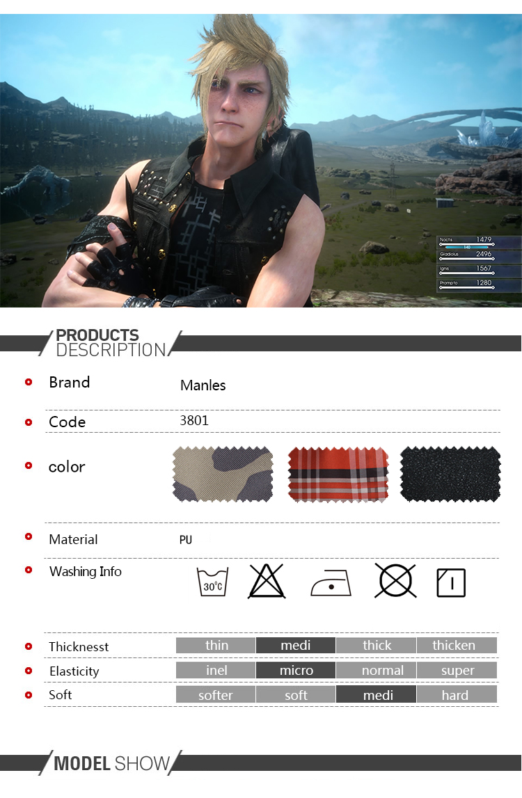 Hot Anime Game Cosplay Final Fantasy XV Prompto Argentum Costume Clothing Halloween Christmas Men Suit Male Custom Made (1)