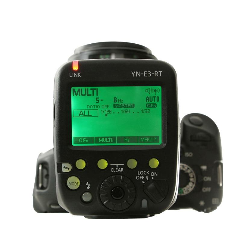 YONGNUO Official YN-E3-RT TTL Flash Radio Trigger Speedlite Transmitter as ST-E3-RT Compatible YONGNUO YN600EX-RT II for Canon yongnuo yn600ex rt ii 2 4g wireless hss 1 8000s flash for canon yn e3 rt ttl radio trigger speedlite transmitter as st e3 rt