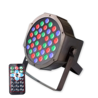 4X Lot Hot Sale 36*3W RGB Stage LED Par Light Disco Party Club Event For Xmas Holiday DMX512 Stage Lighting With Remote Control