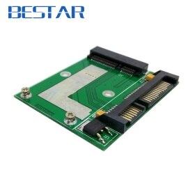 Low profile Half Height 50mm mini PCI-E mSATA SSD to 7mm 2.5 SATA 22pin hard disk Drive HDD PCBA шасси orient uhd 2msc12 для ssd msata для установки в sata отсек оптического привода ноутбука 12 7 мм 30345