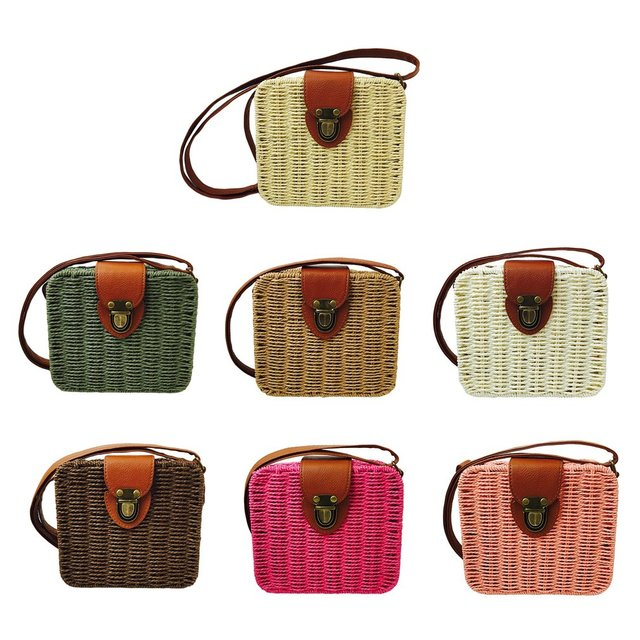 LANVERA 2018 Summer Small Women Straw Bags Rattan Woven
