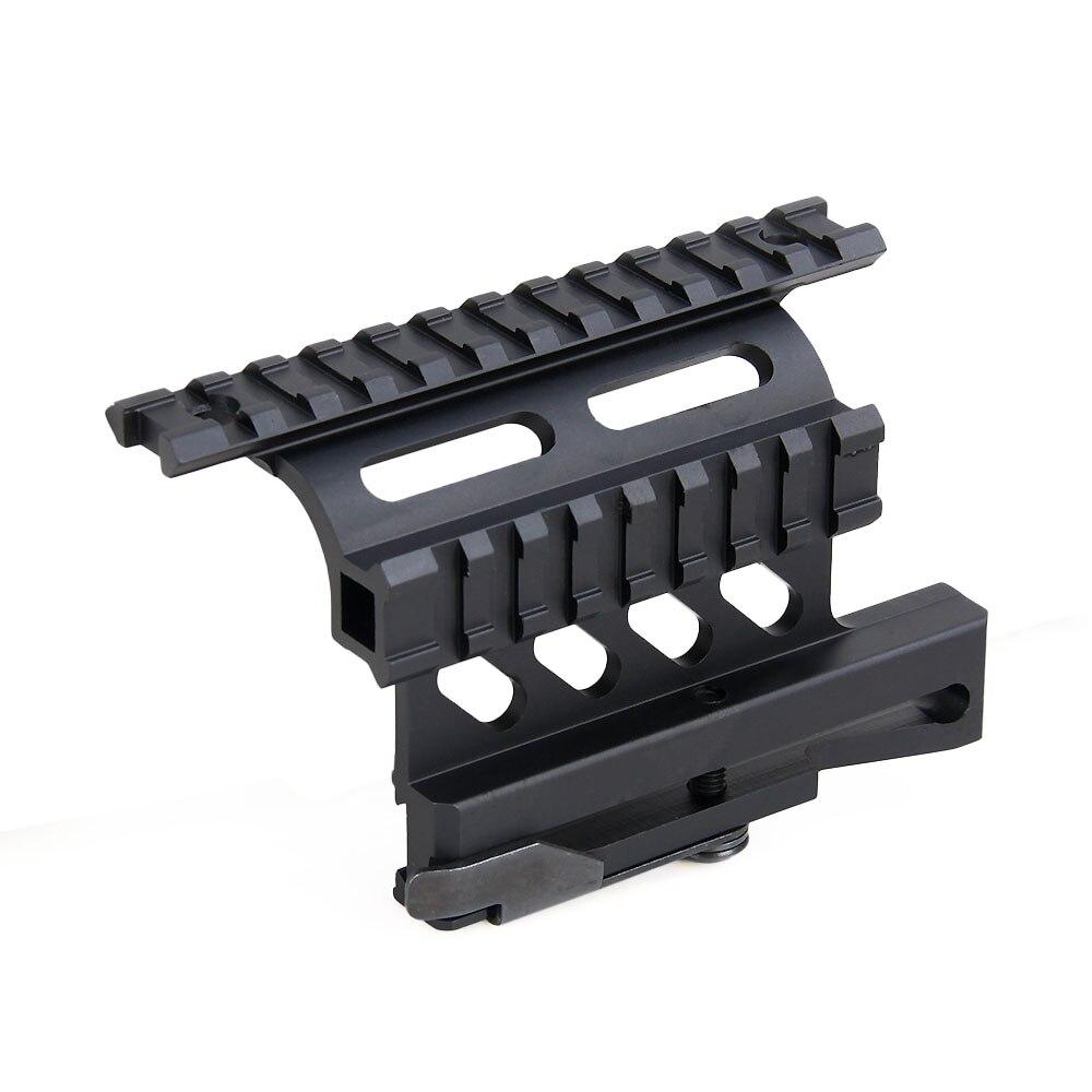 tactical ak serie rail 21mm detach weaver rail double rail side mount gz220227 in scope mounts. Black Bedroom Furniture Sets. Home Design Ideas