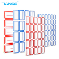 Self Adhesive Label Sticker 65 Sheets Pack 8 Size Red Blue Easy To Tear For Document