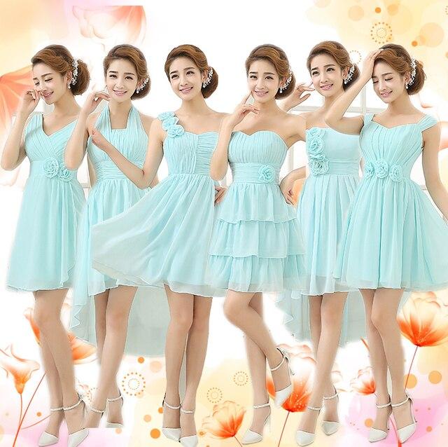 2ab5585dd6a 2016 new arrival stock maternity plus size bridal gown blue evening dress  Korean Short Blue Chiffon Summer graduation DZ1410