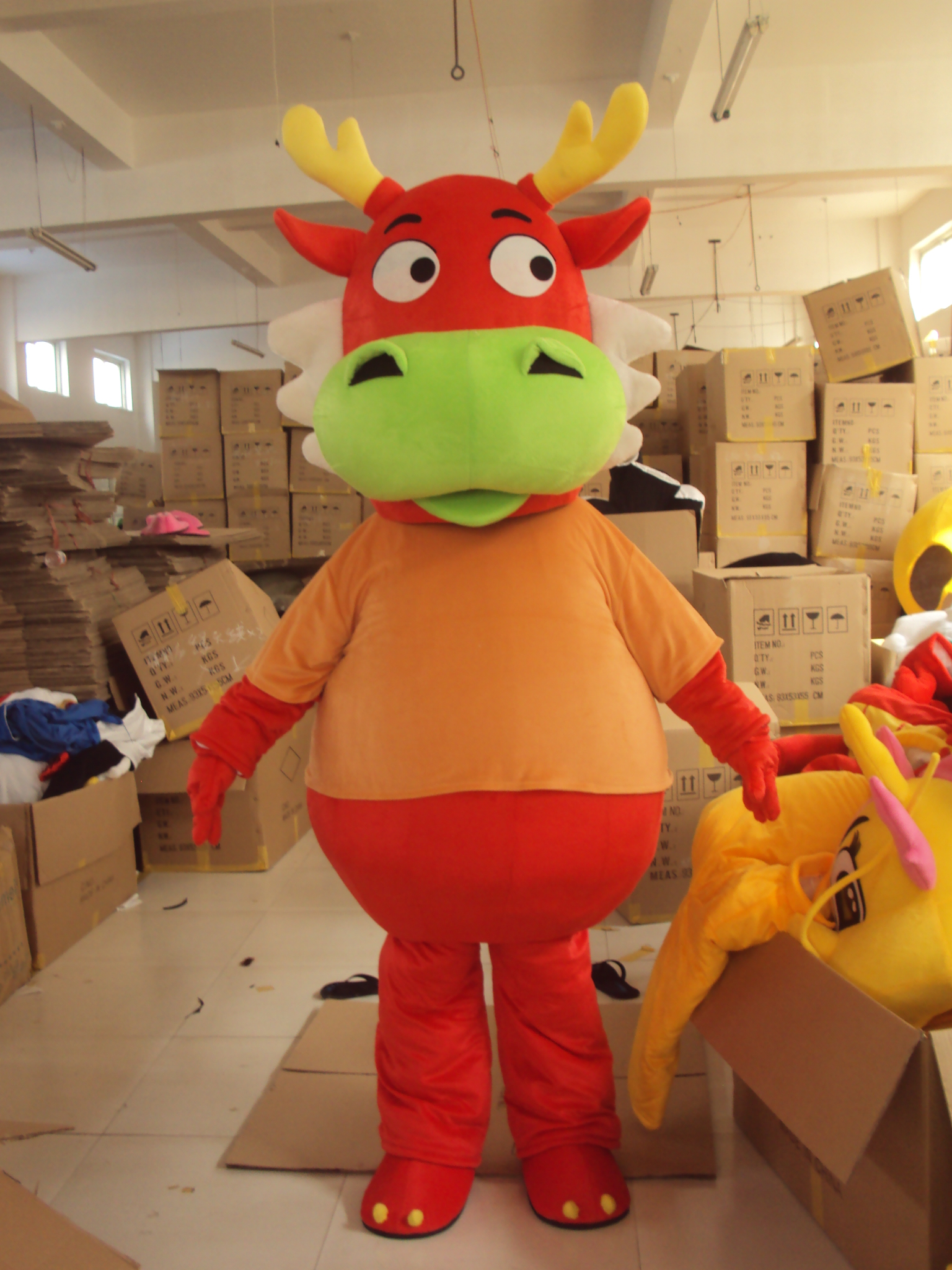 All Kinds Dragon Mascot Costume Hot Sell Mascotte Costume Pterosaur Little Green Dragon Red Yellow Dragon Cosplay Funny Mascots