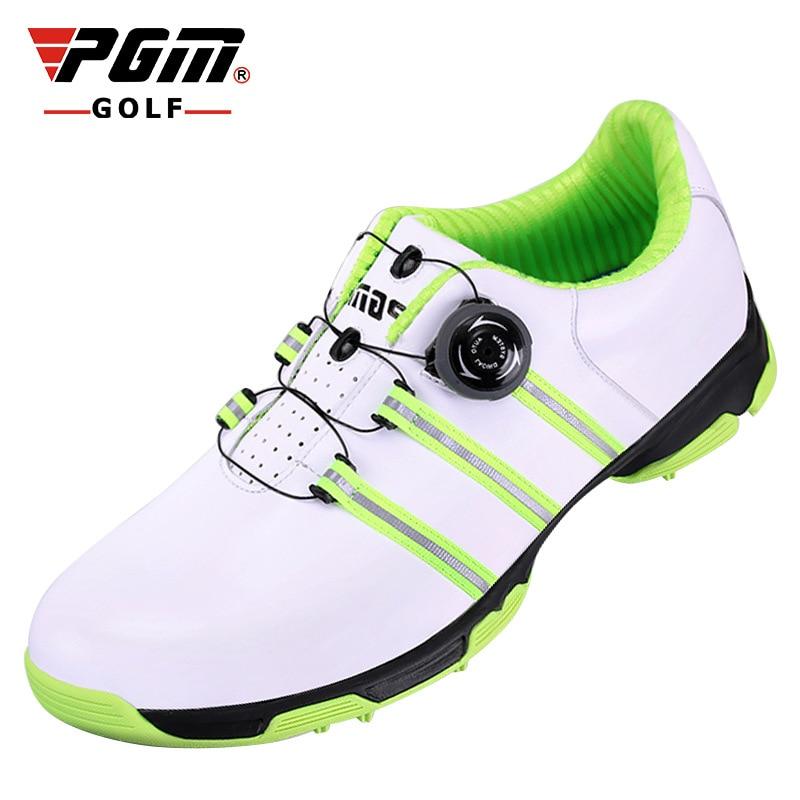 купить Brand PGM Genuine Leather Mens Waterproof Spiked Golf Sports Shoes Pro Tour Steady Spikes Sneakers Steady&Waterproof по цене 4412.5 рублей