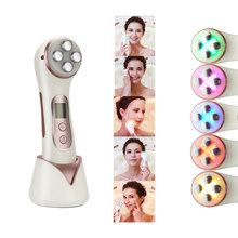 Facial RF Beauty Device Ultrasound Facial Apparatus EMS Face Massage LED Light Therapy Anti Wrinkle AntiAging Skin Rejuvenation