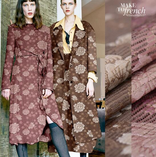 100% Silk Jacquard flocking silk blended fashion fabric Materials Fabric Skirt dressmaking skirt materials 5 yards C58 jacquard green label silk colors cyan [pack of 3 ]