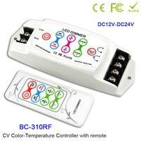 BC 310/BC 310RF DC12V 24V 2CH CV Color temperature CT led controller wireless RF remote led dimmer for 5050 led strip light tape