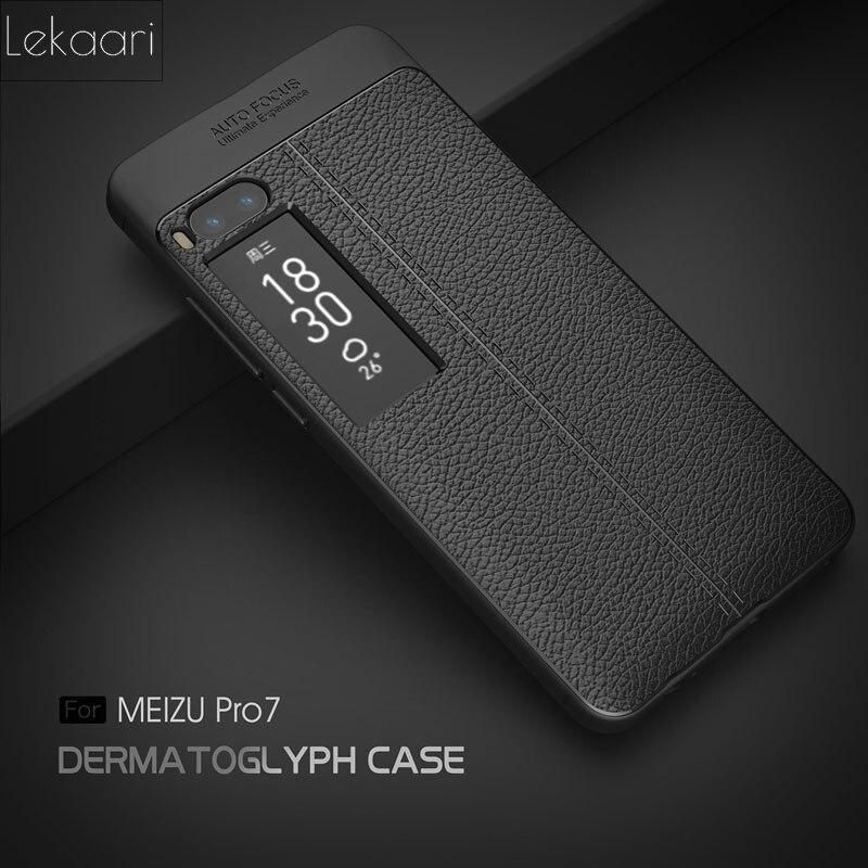 Meizu Pro7 Pro 7 etui Meizu Pro 7 Plus housse de luxe en silicone souple Coque de téléphone arrière Meizu Pro 7 Plus 7 Plus Coque de couverture Fundas