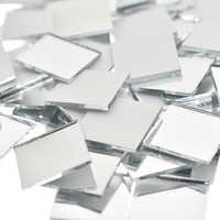 New 100Pcs 10x10mm/15x15mm Mini Glass Square Mirror Mosaic Tiles Bulk For Diy Crafts Home Decorations
