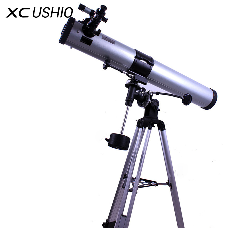Astronomical Telescope Mirror F90076EQ Monocular Telescope Equatorial Mount 675x Zoom Night Vision Eyepiece Galaxy Observation 12x zoom camera lens telescope for samsung galaxy s5 silver