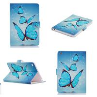 New For Apple ipad mini 4 3 2 1 Beautiful Butterfly Pattern PU Tablet Cover Stand Case for apple Ipad 7 6 5 4 3 2 ipad air 3 2 1