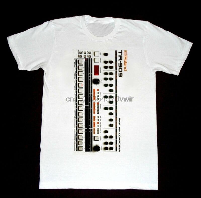 b734d151 Roland 909 Drum Machine - Tshirt 7 Shirt Vintage Moog Synthesizer Korg arp  Mod