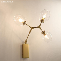 Sconces Novelty Glass Belly Lampshade Modern Wall Light Simple Country Bar Cafe Store Room Decorative Wall