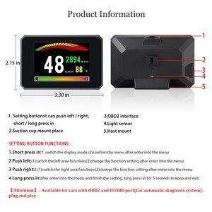 Image 5 - P16 חדש רכב display אבחון כלי T816 OBD2 GPS 48 פונקציות נתונים דיגיטלי מטר drving מחשב תקלה אבטחת אזעקה
