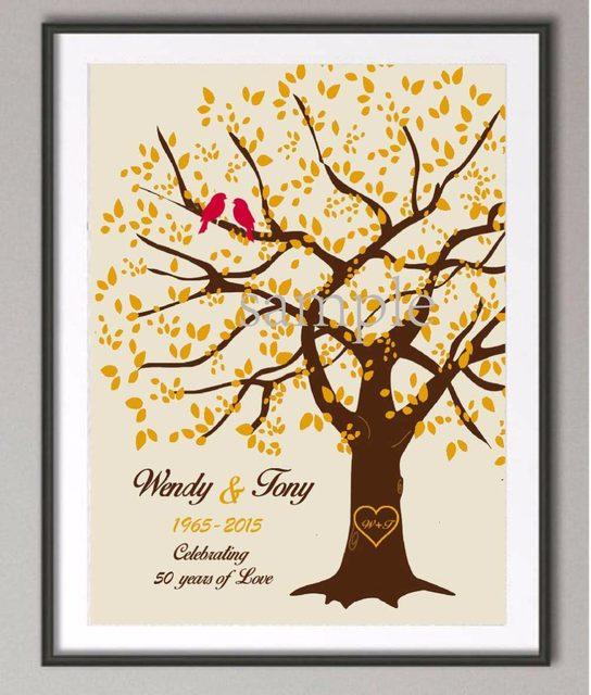 Tienda Online 50th aniversario de boda regalos árbol de familia ...